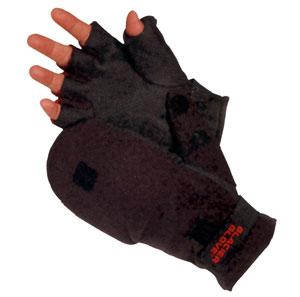 Теплые перчатки без пальцев с
