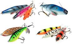Джеркбейты могут выглядеть, как окунь, басс, киско, судак или та рыба, на которую  предпочитает охотиться щука в посещаемом Вами водоеме.